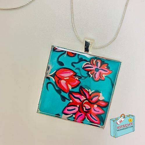 Mirror Flowers Necklace by  Melissa Jeanne Bradley