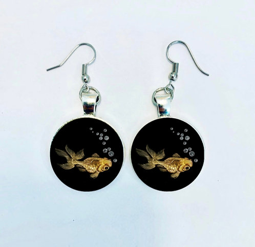 Pond Series: Goldfish Earrings