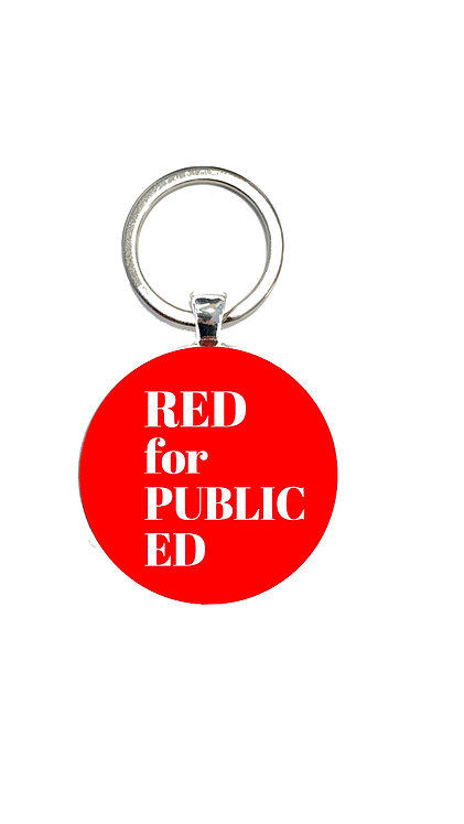 Red for Public Ed Keychain