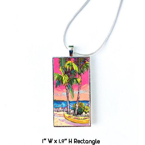 Palms & Kayak Necklace: Sally C. Evans