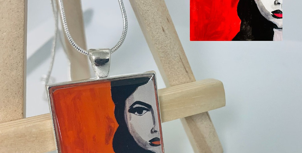 Face Necklace by Dara Barth