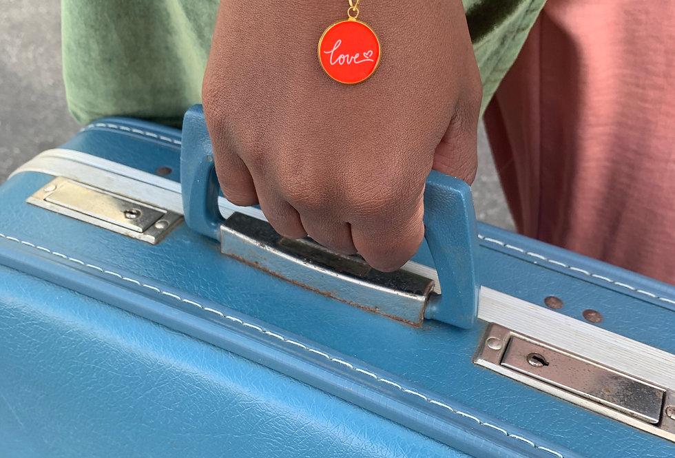 Love Charm Link Bracelet