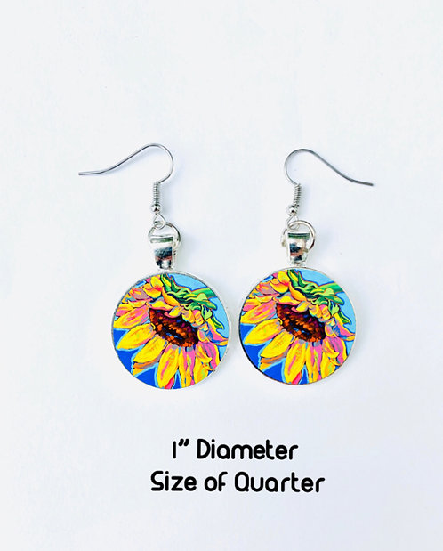 Sunflower Bliss Earrings: Sally C.  Evans Collection