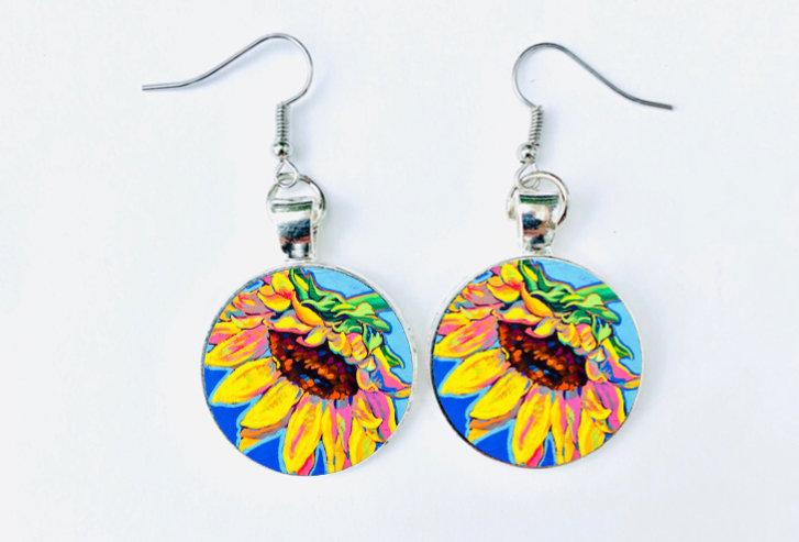 Sunflower Bliss Earrings: Sally C.  Evans Collection