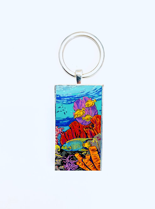 Queen of the Reef Keychain: Sally C. Evans