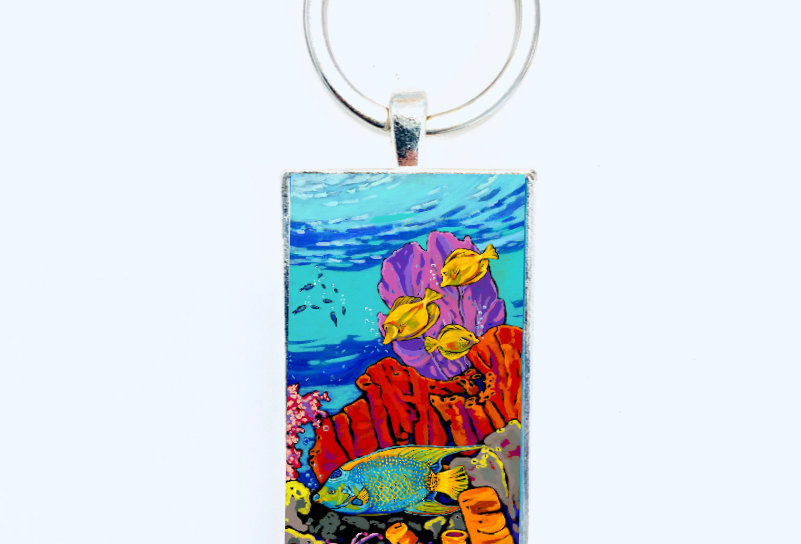 Queen of the Reef Keychain: Sally C. Evans
