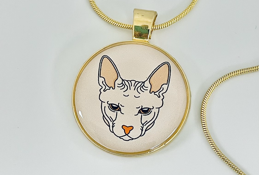 Sphynx Cat Necklace