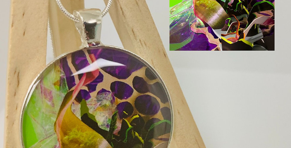 Synthetic Perception Necklace by Shelby Fleming