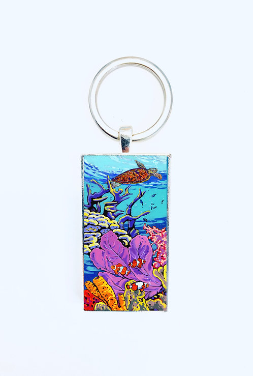 King of the Reef Keychain: Sally C. Evans