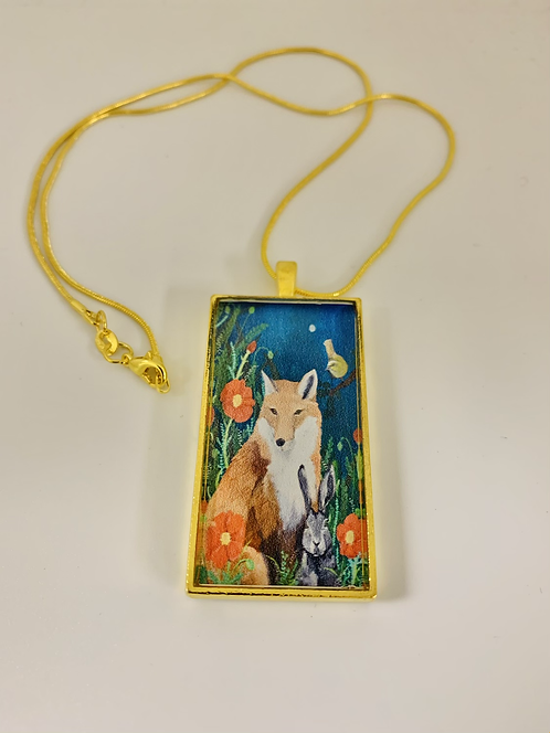 Midnight Fox Necklace