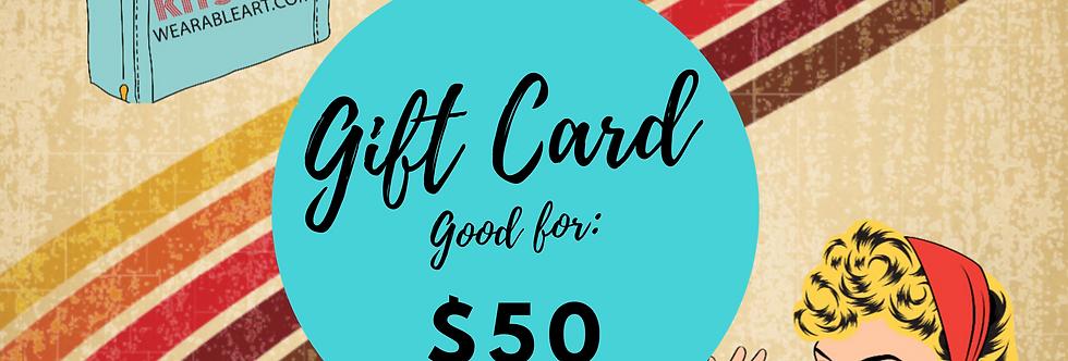 Gift Card: $50