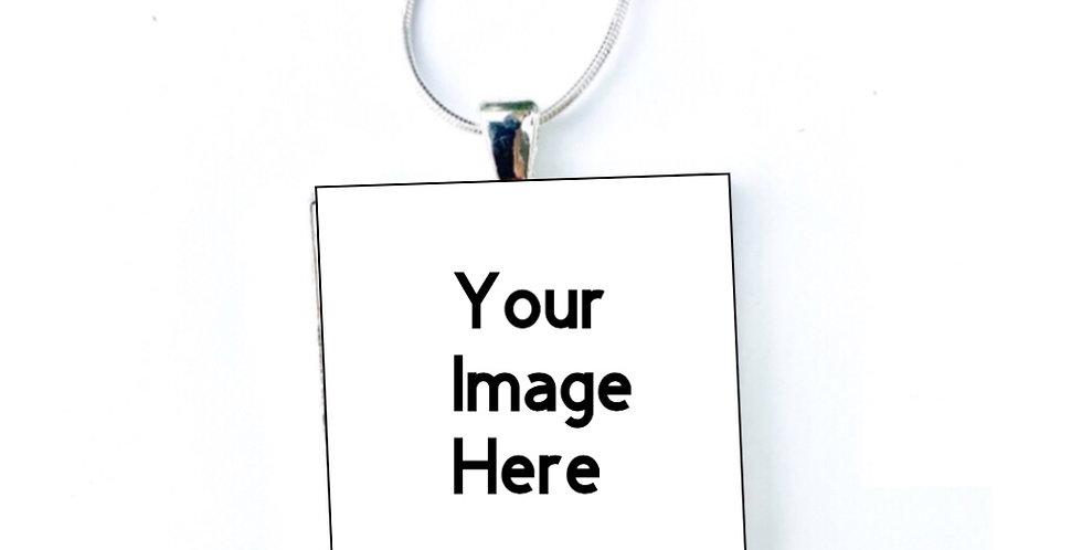 Custom Art Necklace or Keychain by Erika Chapman