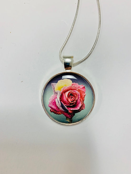 Colorful Rose Necklace