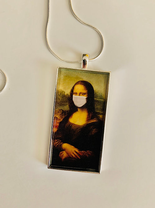 Mona Lisa during Pandemic Necklace