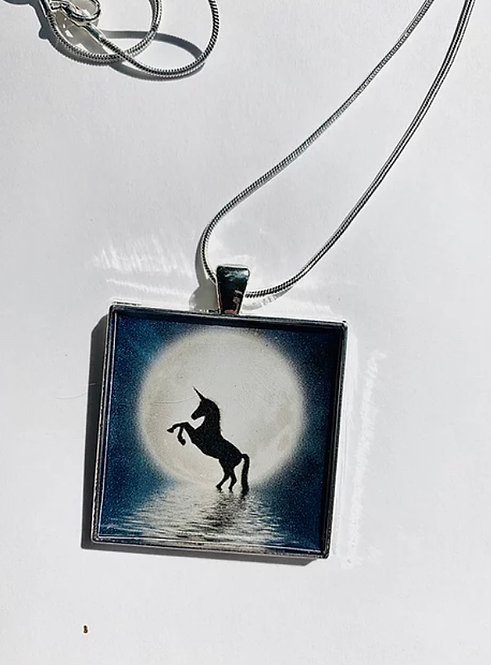 Wholesale Weekly Deal: 12 Moonlight Unicorn Necklaces
