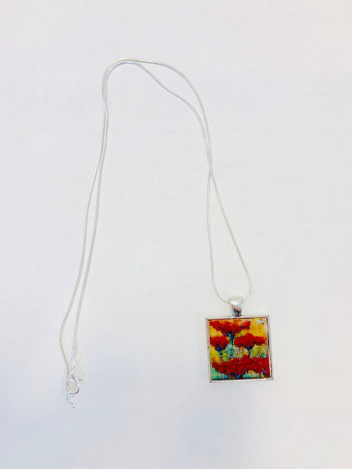 Poppies Necklace: Donna Theresa Collection