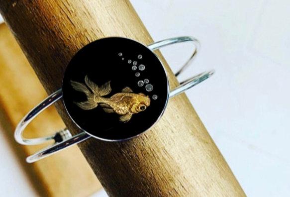 Pond Series:  Goldfish Cuff Bangle