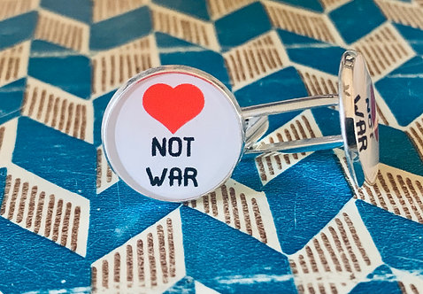 Love Not War Cuff Links