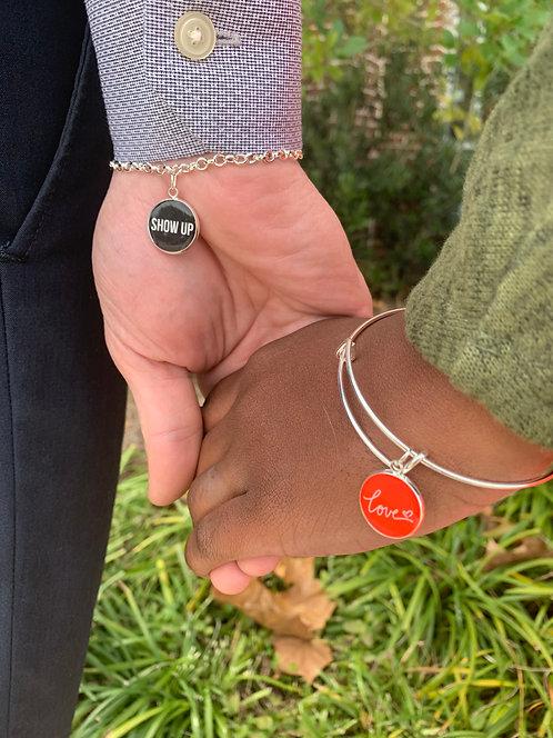 Show Up Charm Link Bracelet