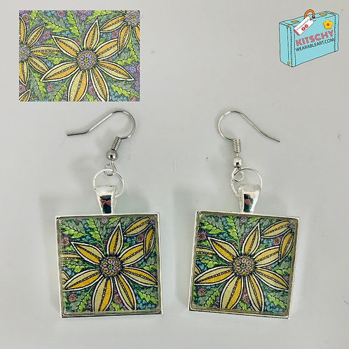 Natural Chaos Earrings by Jan Jenkins