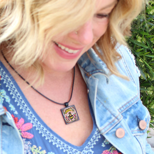 Bee Happy Necklace by KAt Gottlieb