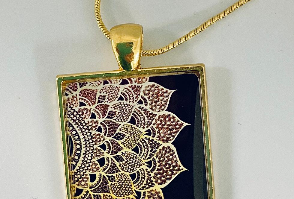 Sunrise Lotus Necklace by Mira Patel