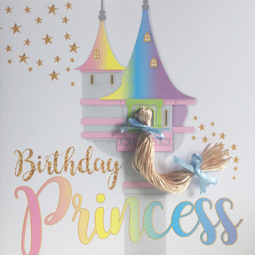 Rapunzel birthday card greetings cards united kingdom pushing rapunzel birthday card bookmarktalkfo Image collections
