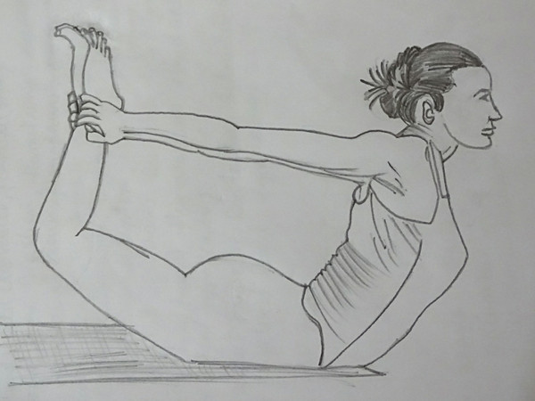 Dhanurasana,  Sep by step instructions on Bow pose