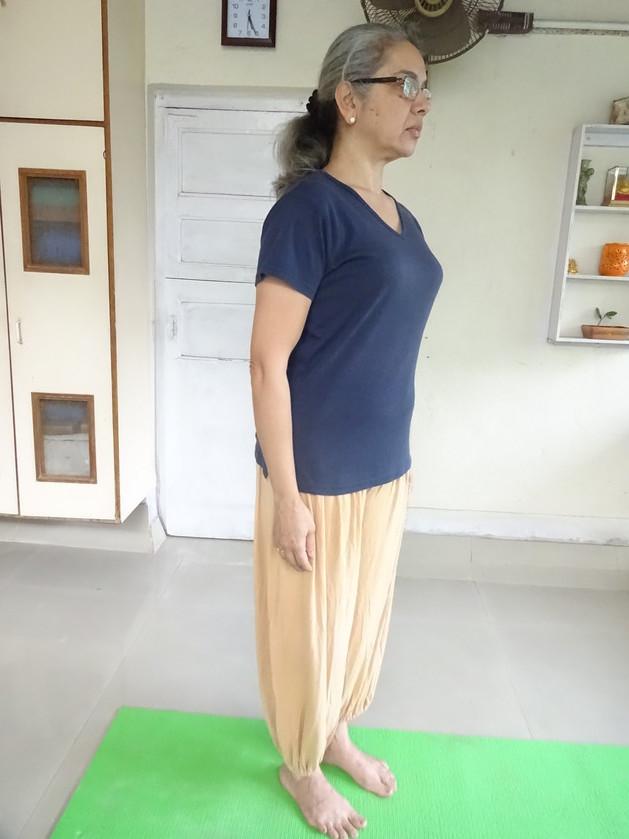 Correct standing posture