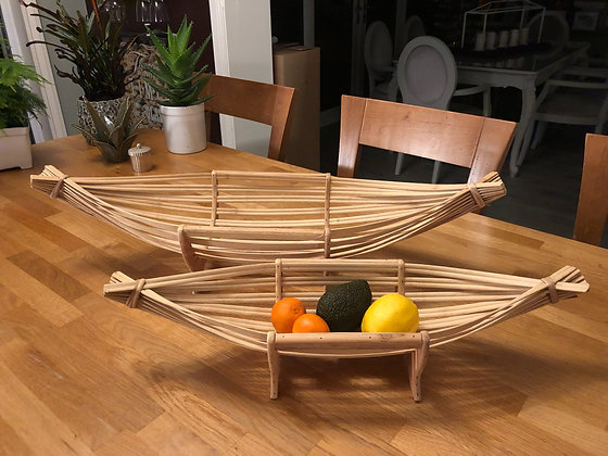 Bamboo fruit boats
