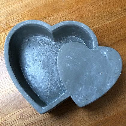 Concrete heart in heart bowl
