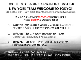 New York Team in Tokyo