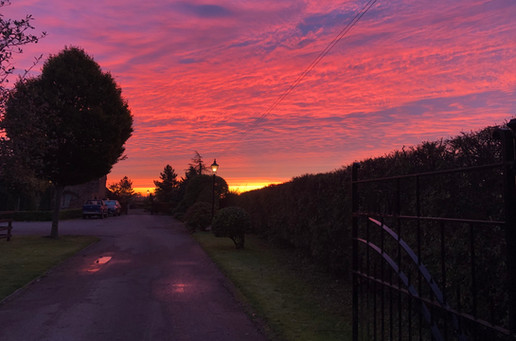 Picturesque sunset at Stainers Farm