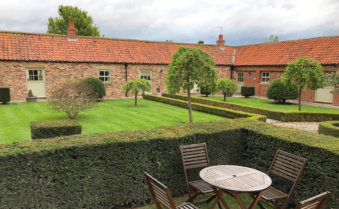 Cottage courtyard and gardens