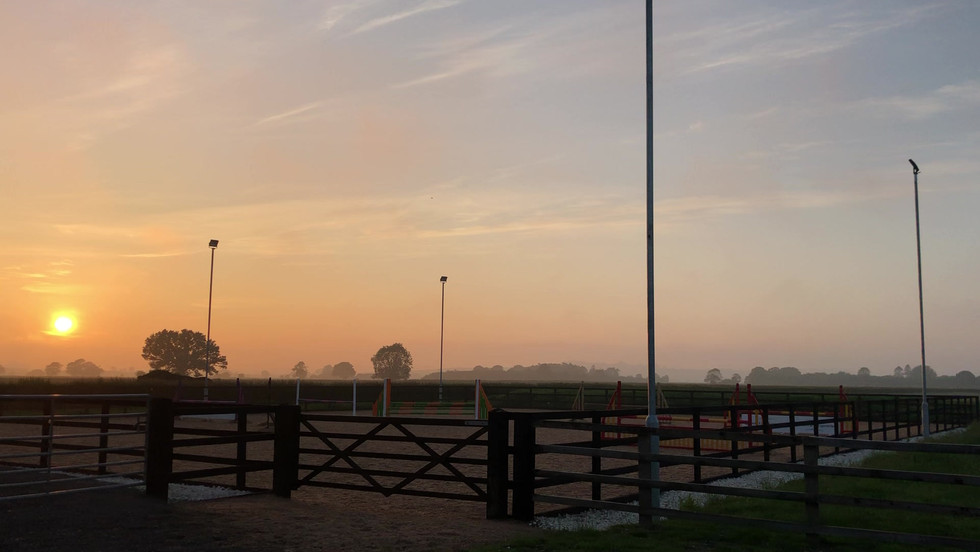 Stable barn and arena