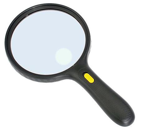 Лупа Kromatech ручная круглая 1,8/5х, 138 мм, с подсветкой (3 LED), черная MG-99