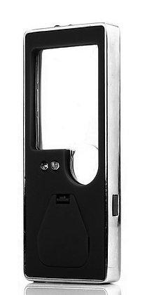 Лупа Kromatech карманная 3/10x, с подсветкой, ультрафиолет (5 LED), черная TH-70