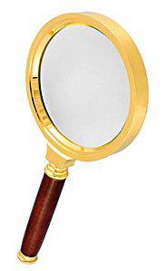 Лупа  ручная круглая 6х, 50 мм, в металлической оправе с деревянной ручкой