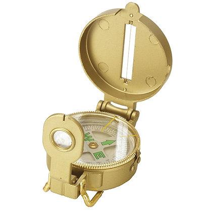 Компас жидкостный туристический Kromatech 48 мм, с крышкой и лупой (металл, золо