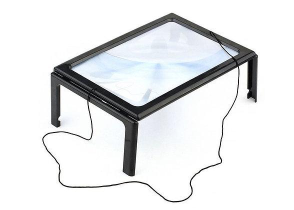 Линза Френеля Kromatech настольная 2,5x, 161х238 мм, на ножках, с подсветкой (12