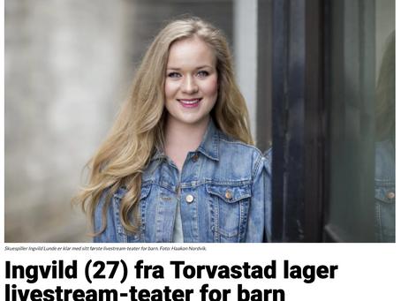 """Forhåndsomtale av """"Prinsessen som ikke kunne gå ut"""" og Ingvild i Karmøynytt!"""