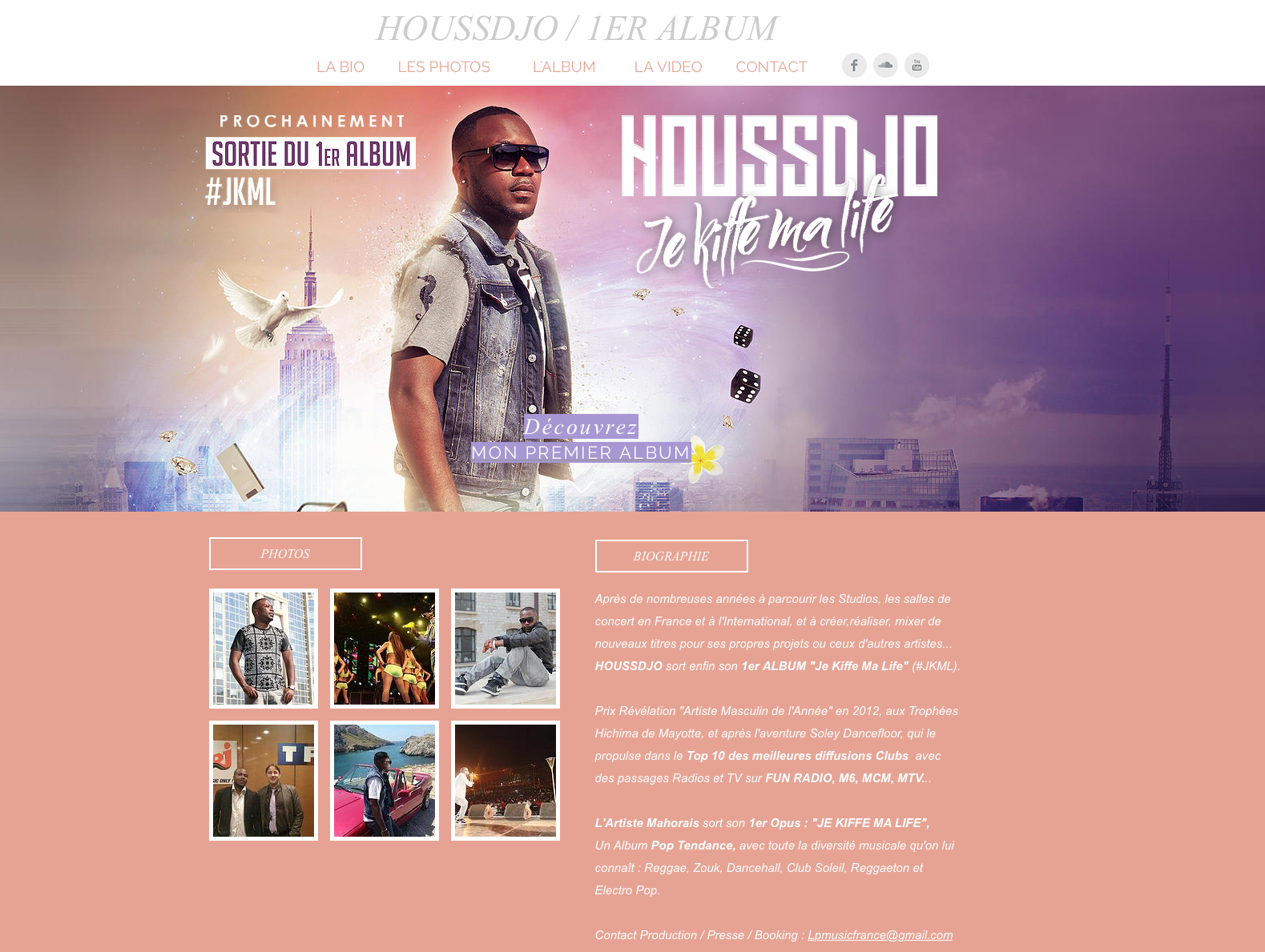 Site promotionnel Album Houssdjo