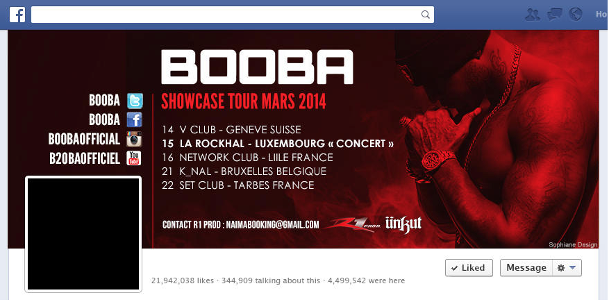 webdesign booba facebook rap