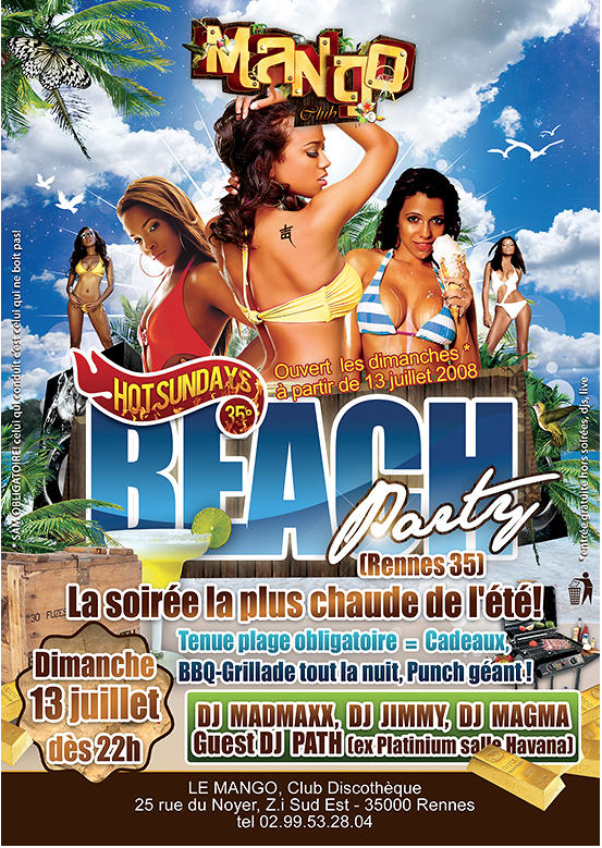 Soirée Beach Party - infographiste