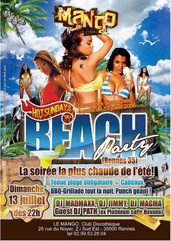 Soirée Beach Party - infographiste