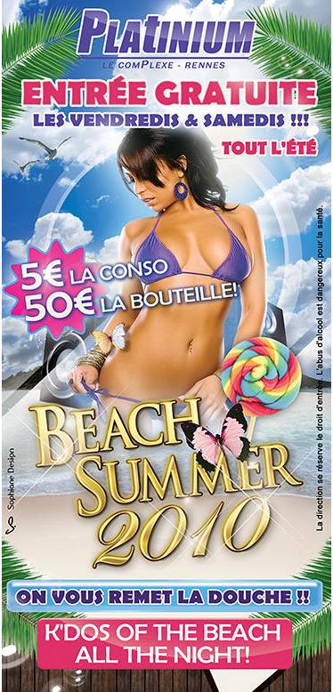 Flyer Beach Summer night