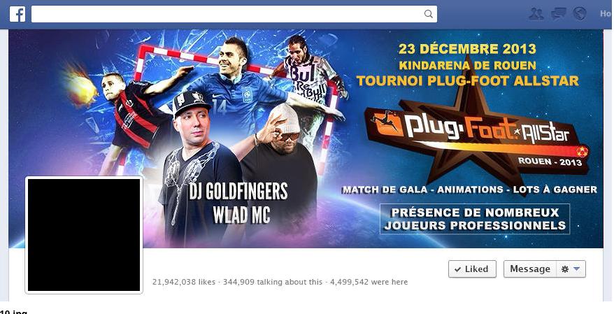 page Facebook dj goldfinger