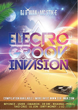flyer soiree electro groove invasion