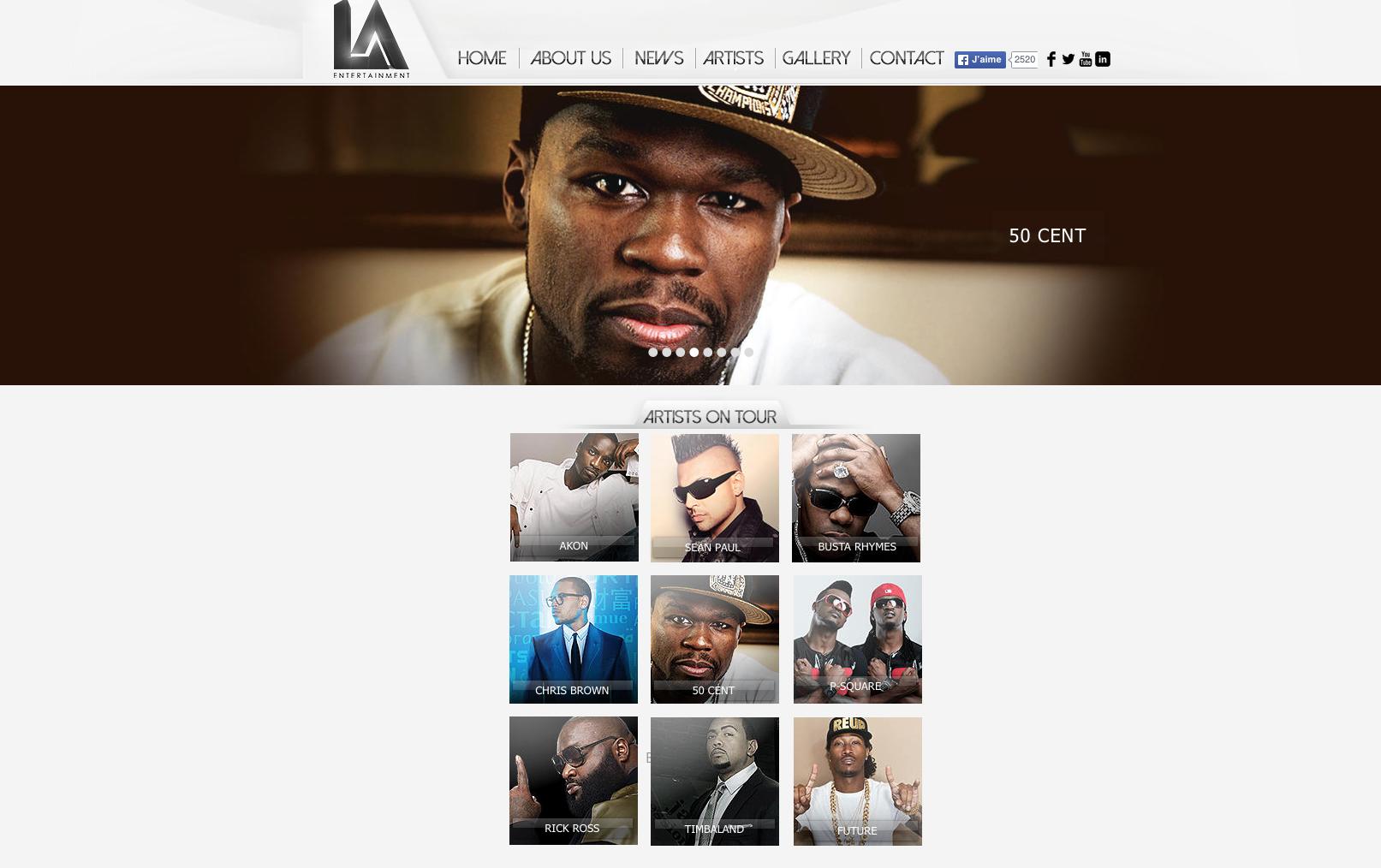 graphiste 50 cents hip hop américain