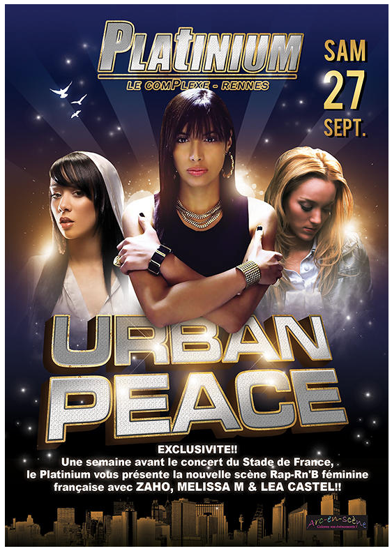 Affiche graphiste Urban peace